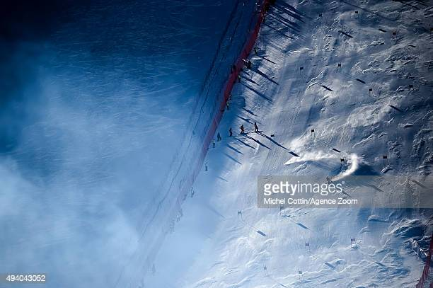 Tessa Worley of France in action during the Audi FIS Alpine Ski World Cup Women's Giant Slalom on October 24 2015 in Soelden Austria