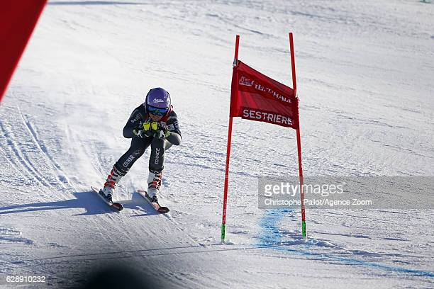 Tessa Worley of France in action during the Audi FIS Alpine Ski World Cup Women's Giant Slalom on December 10 2016 in Sestriere Italy