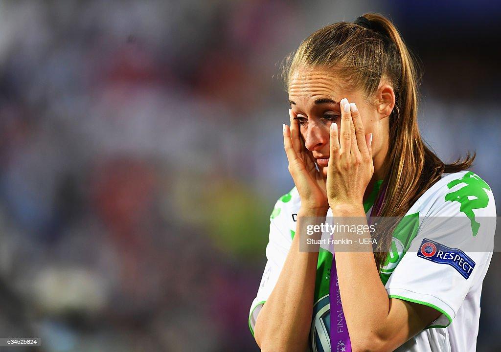 Tessa Wullaert of Wolfsburg looks dejected during the UEFA Women's Champions League Final at Mario Rigamonti Stadium on May 26, 2016 in Brescia, Italy.