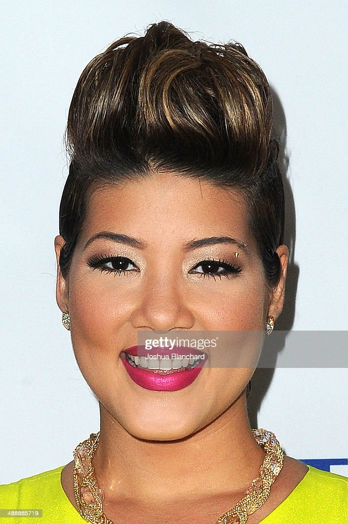 Tessanne Chin arrives at the AntiDefamation League Honors Roma Downey And Mark Burnett at The Beverly Hilton Hotel on May 8 2014 in Beverly Hills...