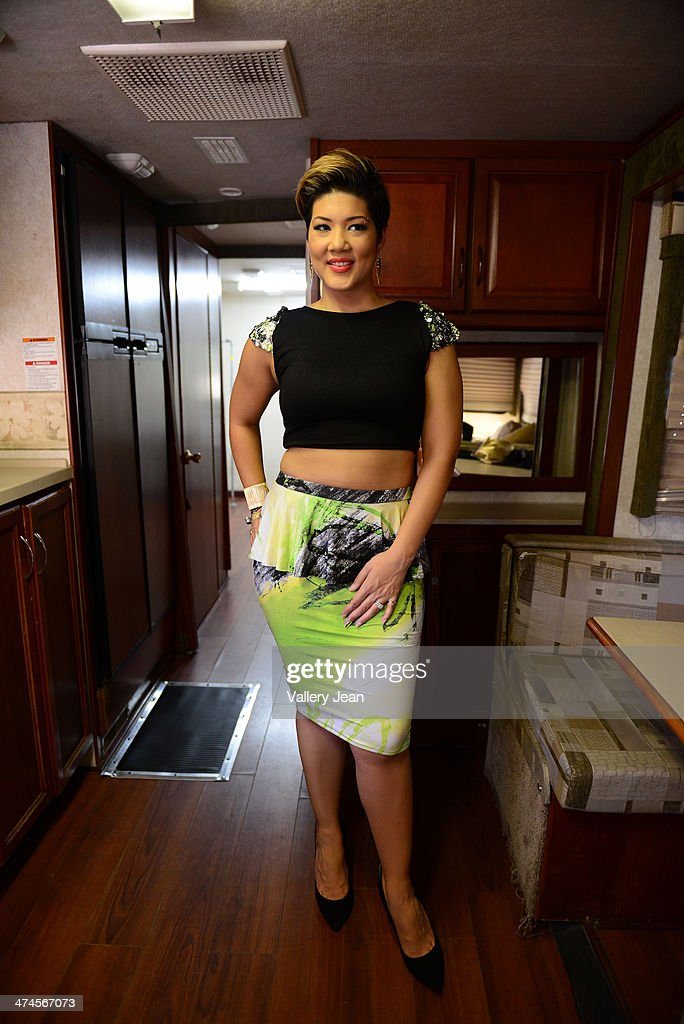Tessanne Chin backstage at the 9 Mile Music Festival at Miami Dade County Fairground on February 15 2014 in Miami Florida