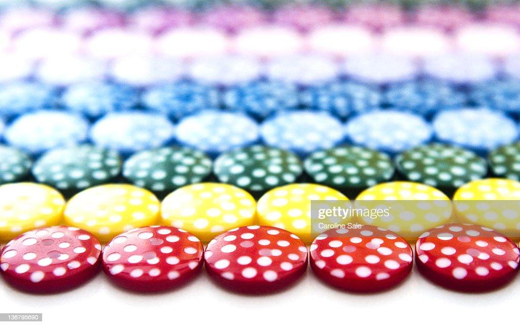 Tessellated pattern of polka dot, : Stock Photo