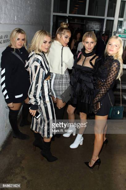 Tessie Storm Tallia Storm Golden Barbie AKA Jasmine Sanders Caroline Daur and Lottie Moss seen at St John for the Off White party during London...