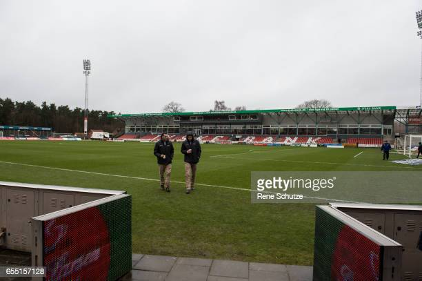 Test photo the Danish Alka Superliga match between Silkeborg IF and FC Copenhagen at Mascot Park on March 19 2017 in Silkeborg Denmark