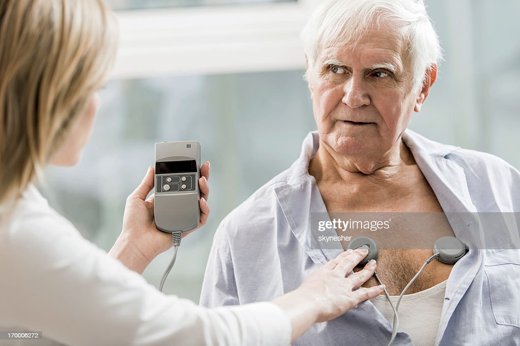 EKG test.