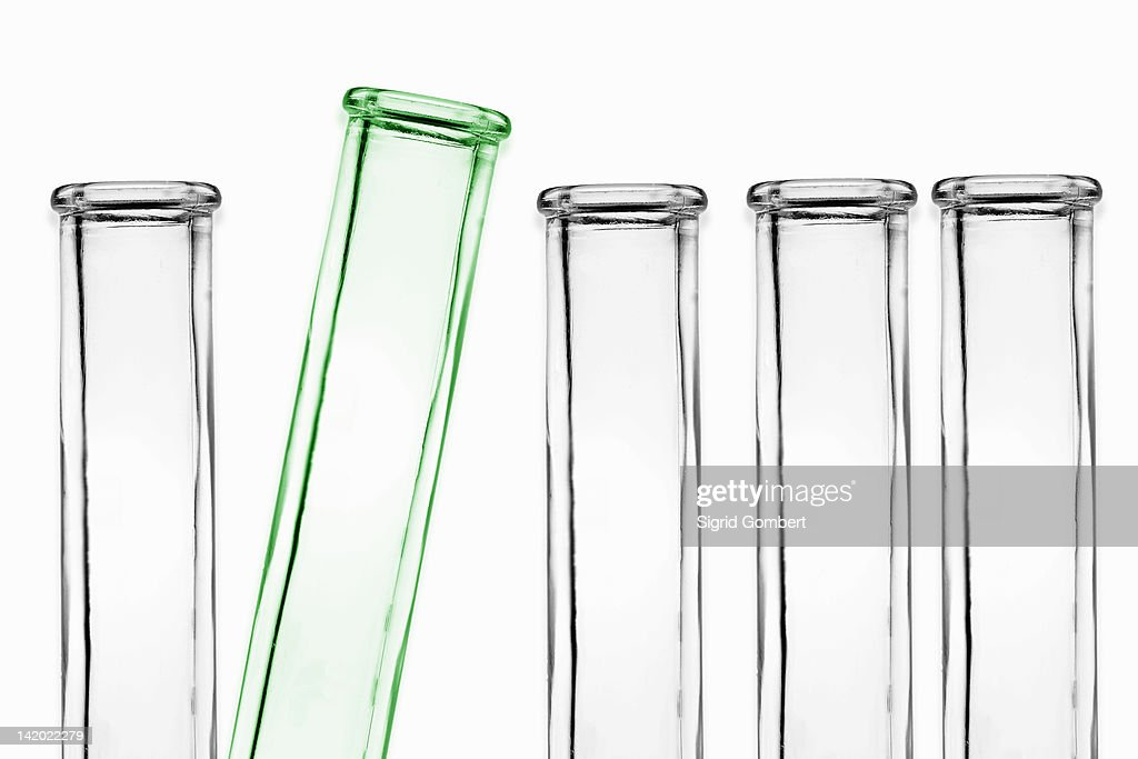 Test tubes in rack : Stock Photo