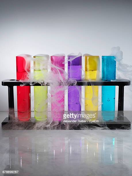 Test Tubes With Colored Liquids