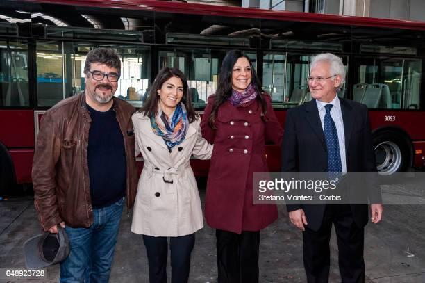 Testimonial actor Francesco Pannofino Mayor of Rome Virginia Raggi Councillor for Mobility of Roma Capitale Linda Meleo and CEO of ATAC Manuel...