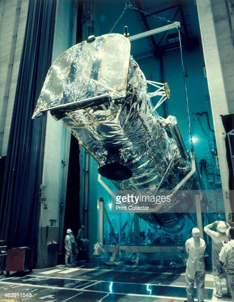 Testing the Hubble Space Telescope 1980s The telescope is shown being installed in an acoustic test cell The Hubble Space Telescope was designed to...