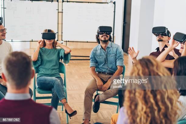 Testing virtual reality headsets