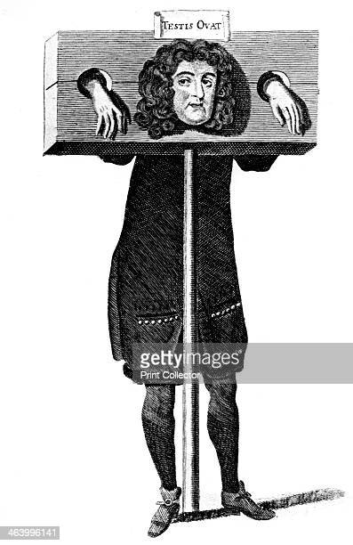 'Testis Ovat' Titus Oates in the pillory 17th century Testis Ovat is an anagram of Oates' name An Anglican priest he made up the story of the Popish...