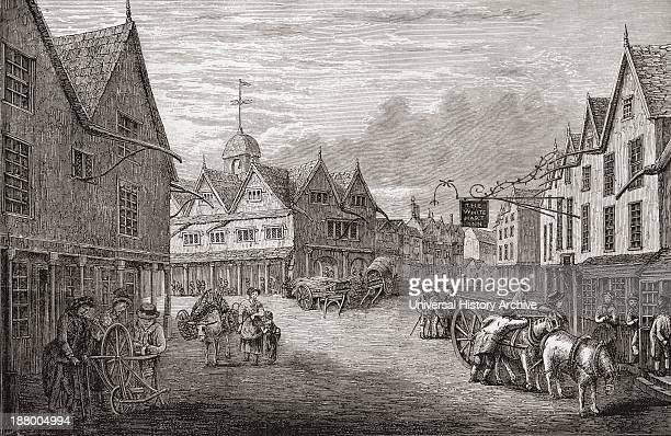 Tetbury Market Place Gloucestershire England As It Was In The 18Th Century From The Book Short History Of The English People By JR Green Published...