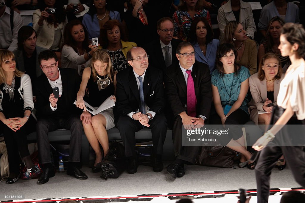 Tete Coustarot, Javier Goicoechea, Debora Bandura, Ricardo Larriera, Jorge Arguello and Susan Sega attend the Argentina Group Show Spring 2011 fashion show during Mercedes-Benz Fashion Week at The Stage at Lincoln Center on September 16, 2010 in New York City.