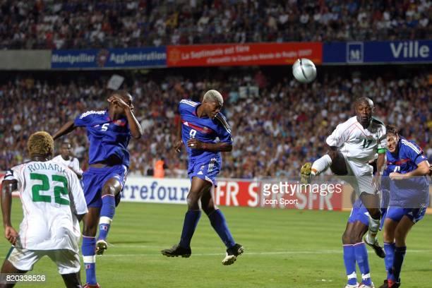 Tete de Djibril CISSE France / Cote d Ivoire Amical Stade de la Mosson Montpellier