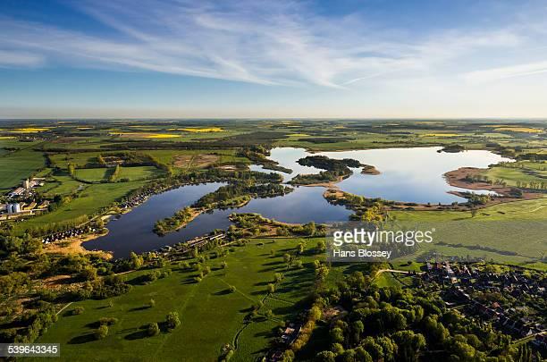 Teterower See lake, Teterow, Mecklenburg Lake District, Mecklenburg-Western Pomerania, Germany