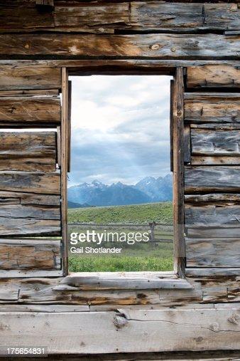Tetons Through the Window