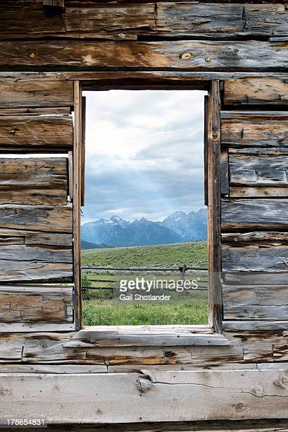 Tetons Through the Window