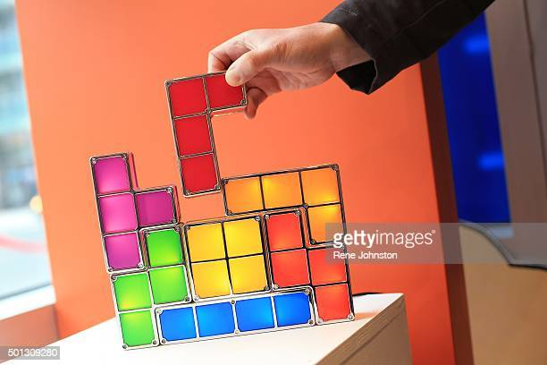 TORONTO ONTARIO DECEMBER 8 2015 Tetris block light It is the first anniversary of Page Panel Comicbook shop Page Panel opened a year ago as a popup...