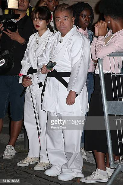 Tetsuro Degawa arrives at the FENTY x PUMA by Rihanna show as part of the Paris Fashion Week Womenswear Spring/Summer 2017 on September 28 2016 in...