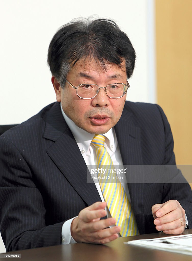 Tetsuya Tsurumaru, President of Renesas Electronics Corporation, during an interview with the press on March 21, 2013 in Tokyo, Japan. Tsurumaru took over as president on Feb 22, 2013.