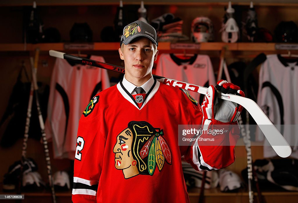 Teuvo Teravainen, 18th overall pick by the Chicago Blackhawks, poses for a portrait during the 2012 NHL Entry Draft at Consol Energy Center on June 22, 2012 in Pittsburgh, Pennsylvania.