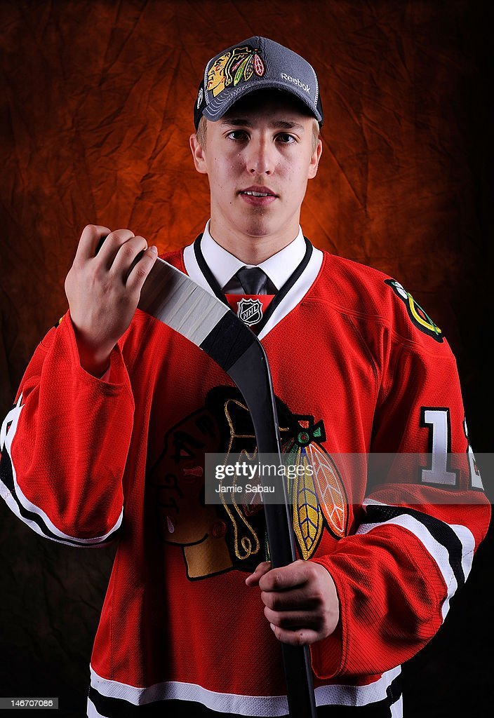Teuvo Teravainen, 18th overall pick by the Chicago Blackhawks, poses for a portrait during Round One of the 2012 NHL Entry Draft at Consol Energy Center on June 22, 2012 in Pittsburgh, Pennsylvania.
