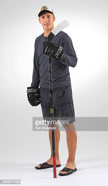 Teuvo Teravainen of the Chicago Black hawks poses for an NHLPA The Players Collection portrait at the Mattamy Sports Center on August 23 2014 in...