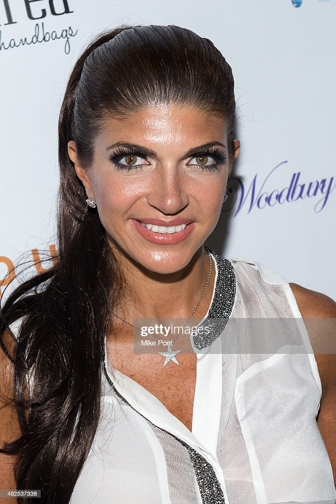 Tevevision Personality Teresa Giudice attends the White Party hosted by Dina Manzo and Teresa Giudice at Woodbury Country Club on July 21 2014 in...