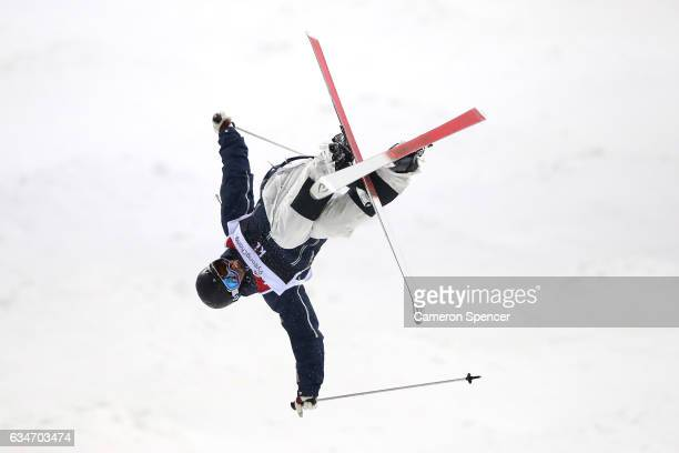 Tevje Lie Andersen of Norway competes in the FIS Freestyle Ski World Cup 2016/17 Mens Moguls Final at Bokwang Snow Park on February 11 2017 in...