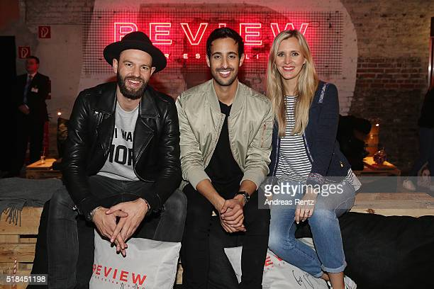 Tewe Maas Sami Slimani and Laura Rosati attend the REVIEW by Sami Slimani Capsule Collection launch party on March 31 2016 in Duesseldorf Germany