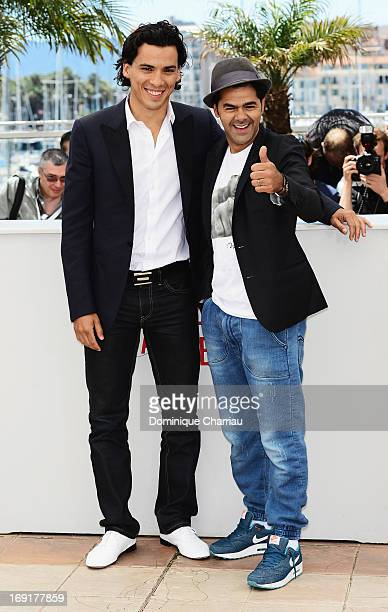 Tewfik Jallab and Jamel Debbouze attend the photocall for 'Ne Quelque Part' during The 66th Annual Cannes Film Festival at Palais des Festivals on...