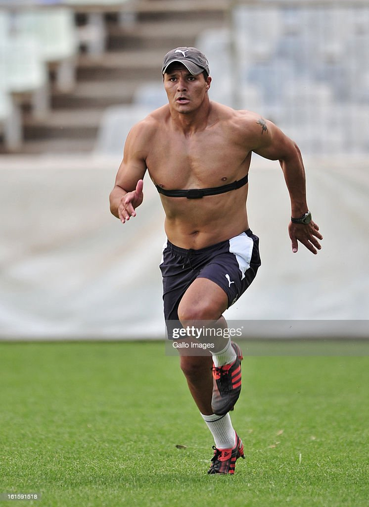 Tewis De Bruyn during the Toyota Cheetahs training session at Free State Stadium on February 12, 2013 in Bloemfontein, South Africa.