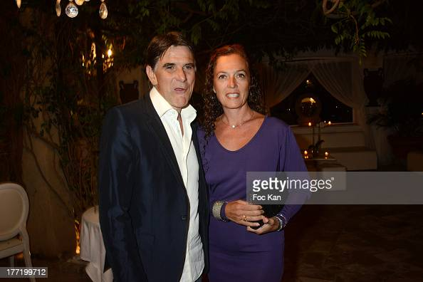 Tex and his wife attend the Massimo Gargia's Birthday Dinner at Moulins de Ramatuelle on August 21 2013 in Saint Tropez France