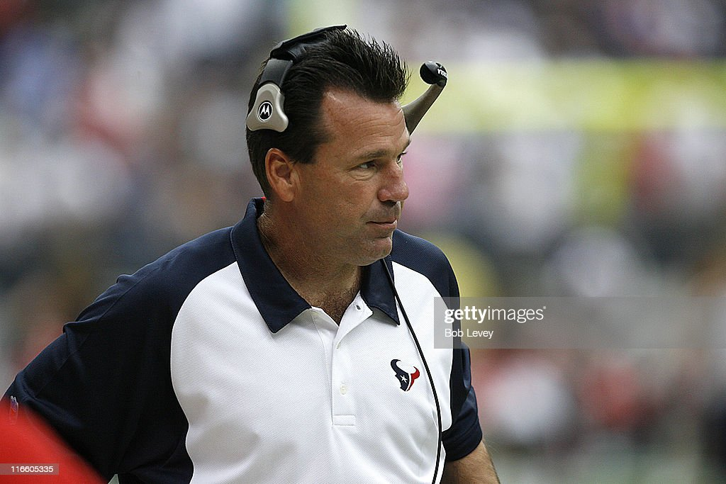 Texans head coach <a gi-track='captionPersonalityLinkClicked' href=/galleries/search?phrase=Gary+Kubiak&family=editorial&specificpeople=614731 ng-click='$event.stopPropagation()'>Gary Kubiak</a>. The Houston Texans defeated the Miami Dolphins 17-5 Oct. 1 2006 at Reliant Stadium in Houston, Texas.