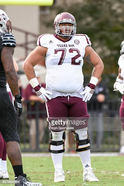 Texas AM Aggies offensive lineman Jermaine Eluemunor during the football game between Mississippi St and Texas AM on November 5 2016 at Davis Wade...