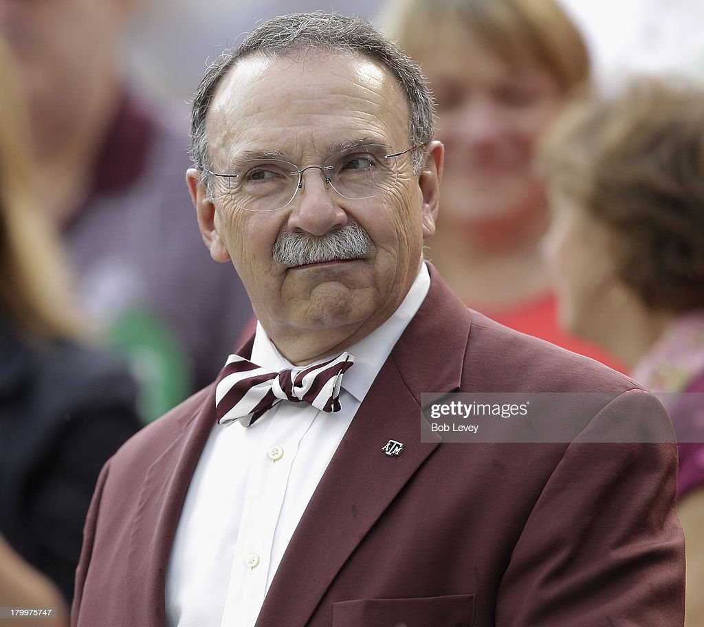 Texas A&M Aggies President Dr. R. Bowen Loftin before a game against Sam Houston State at Kyle Field on September 7, 2013 in College Station, Texas.