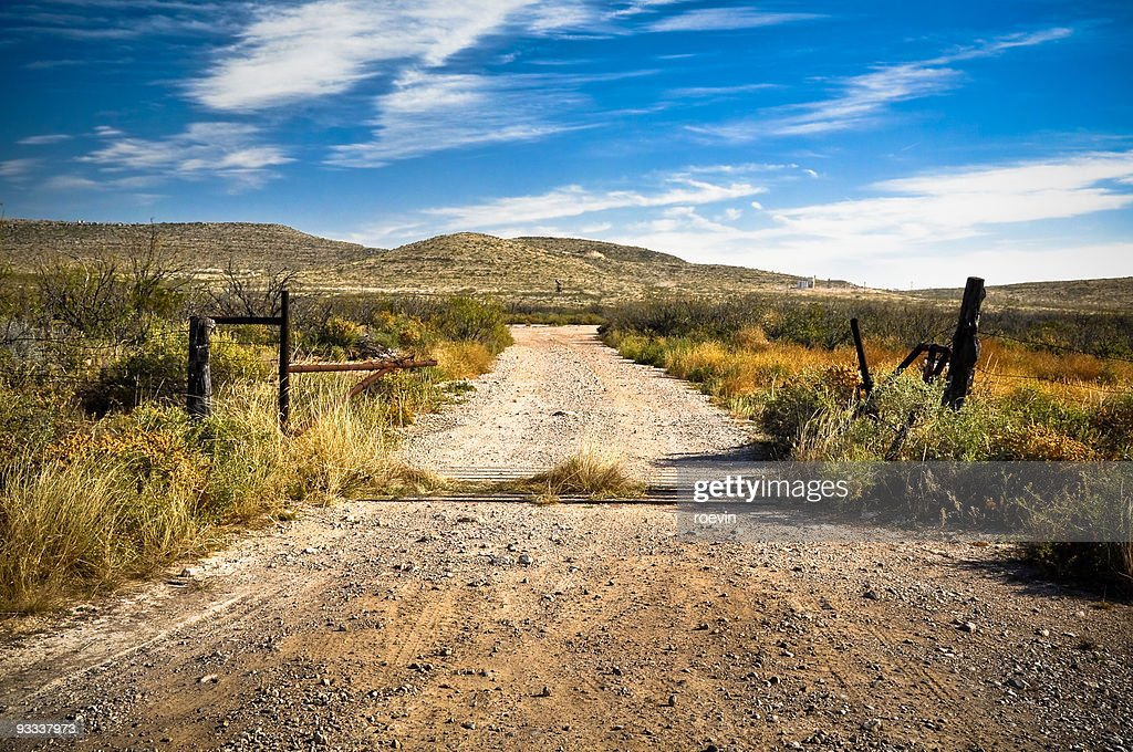 Texas Dirt Road : Stock Photo