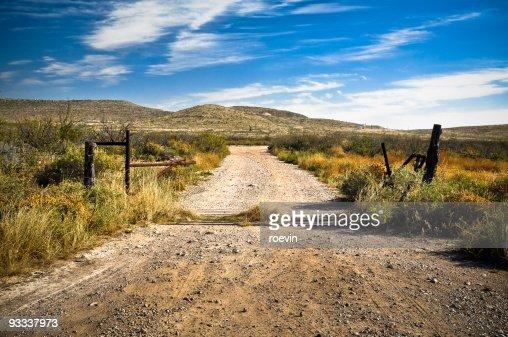 Texas Dirt Road : Stock Photo