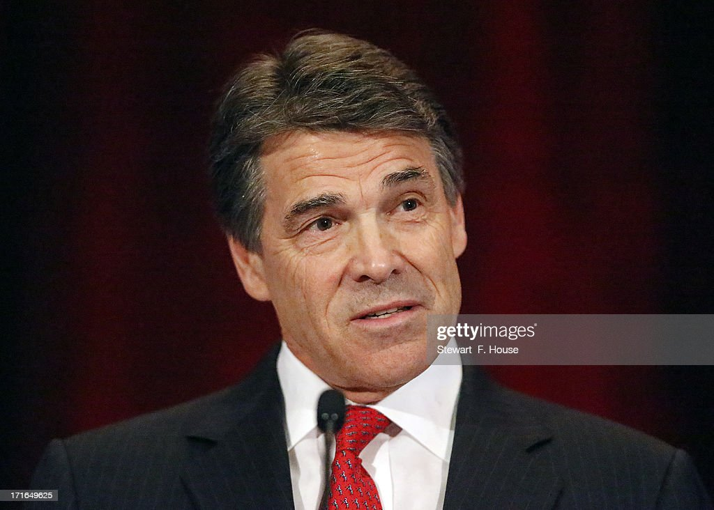 Texas Gov. <a gi-track='captionPersonalityLinkClicked' href=/galleries/search?phrase=Rick+Perry+-+Politician&family=editorial&specificpeople=175872 ng-click='$event.stopPropagation()'>Rick Perry</a> speaks to the National Right to Life convention at the Hyatt Regency DFW International Airport Hotel June 27, 2013 in Grapevine, Texas. Perry has reportedly vowed to continue the fight for a more restrictive abortion law in Texas after the state legislature failed to get the law passed during a special session because of a filibuster and protests.