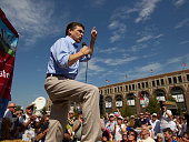 Texas Governor and presidential hopeful Rick Perry campaigns at the Iowa State Fair on Monday two days after entering the race for the Republican...