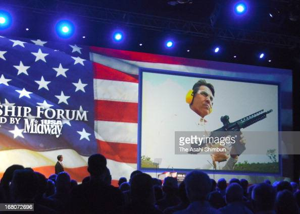 Texas Governor Rick Perry speaks during the 2013 NRA Annual Meeting and Exhibits at the George R Brown Convention Center on May 4 2013 in Houston...