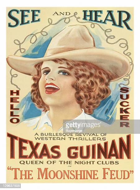 Texas Guinan Western on a poster that advertises the movie 'The Moonshine Feud' 1920