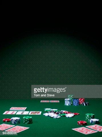 Texas Hold'em Poker table halfway through again.