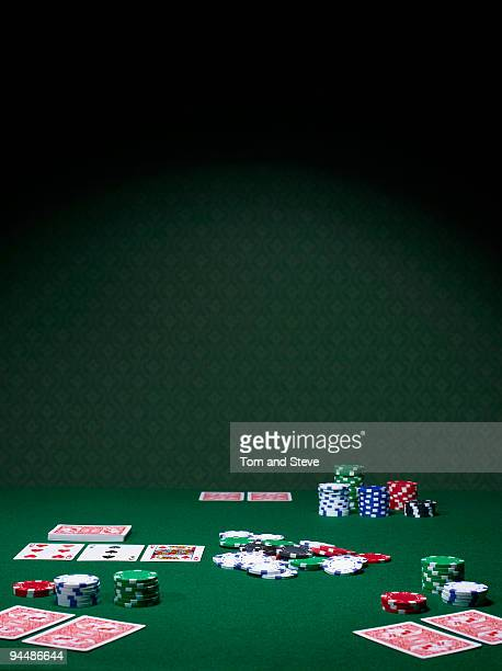 Texas Hold'em Poker table halfway through again.