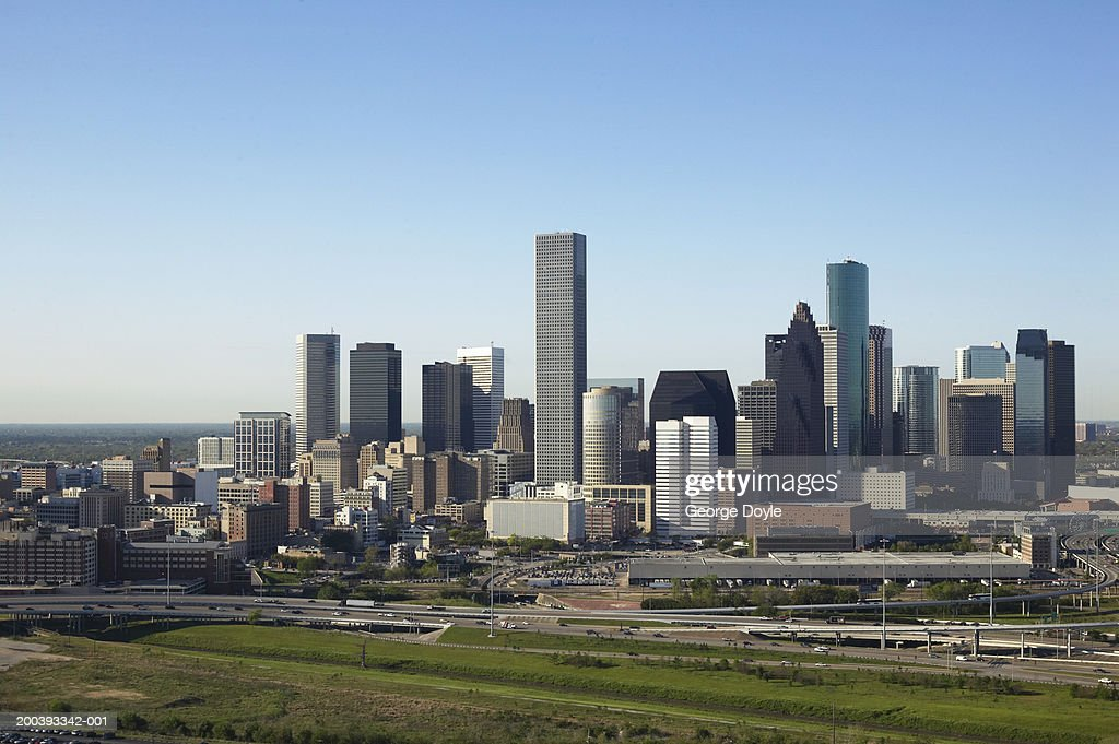 USA, Texas, Houston city skyline, aerial view