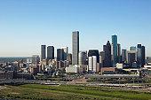 USA, Texas, Houston city skyline, aerial view
