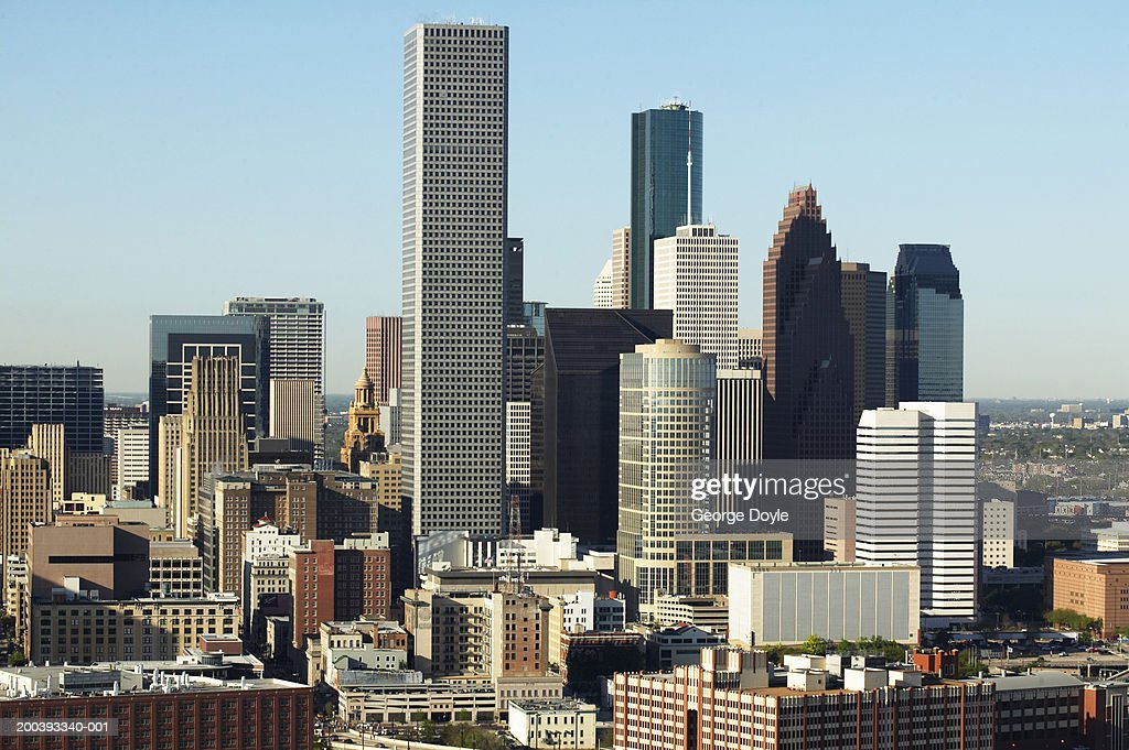 USA, Texas, Houston, dwontown, aerial view : Stock Photo