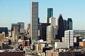 USA, Texas, Houston, dwontown, aerial view
