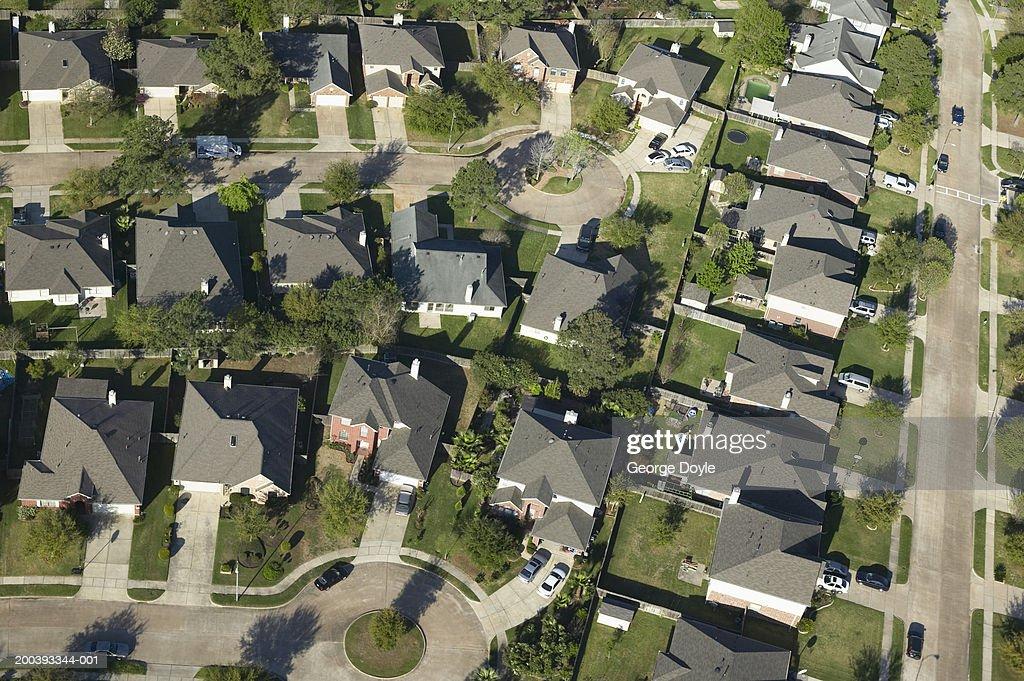 USA, Texas, Houston, residential area, aerial view : Stock Photo