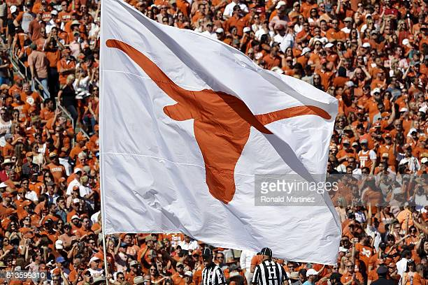 Texas Longhorns flag at Cotton Bowl on October 8 2016 in Dallas Texas